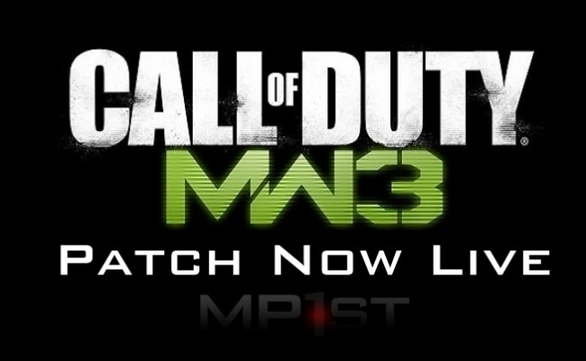 Modern Warfare 3 PS3 Patch 1.11 is Now Live