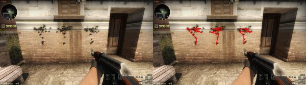 , Counter-Strike: Global Offensive Weapon Recoil Patterns and Hitbox Comparisons, MP1st, MP1st