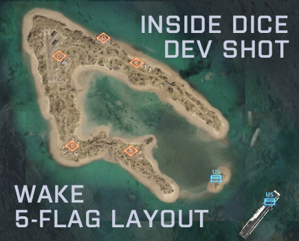 , DICE Presents The New 5-Flag Design of Battlefield 3's Wake Island, MP1st, MP1st