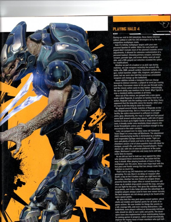 , Halo 4 Rumor – Elite Not Returning, No Spawn Delays, and More Multiplayer Details, MP1st, MP1st