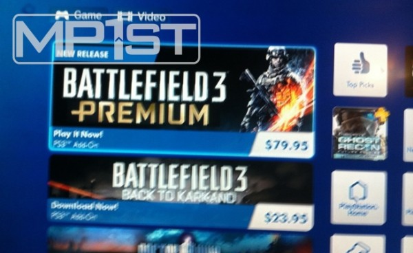 , Battlefield 3 Premium Pops Up On PSN Store, Not For Sale Yet, MP1st, MP1st