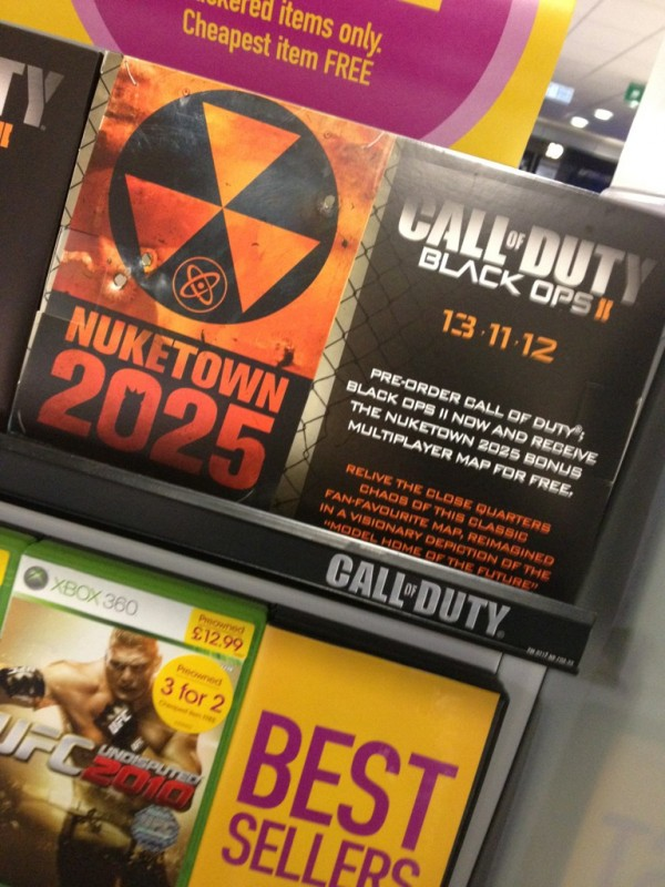 , Report – Black Ops II Getting Pre-Order Bonus 'Nuketown 2025' Multiplayer Map, MP1st, MP1st