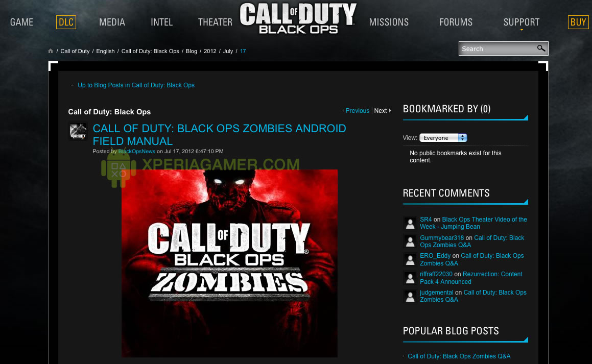 Rumor call of duty black ops zombies invades android
