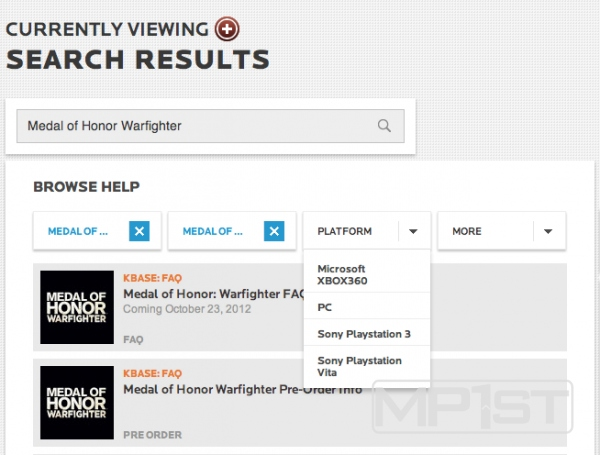 , [Updated] Rumor – Medal of Honor: Warfighter Listed to Release on the PS Vita, MP1st, MP1st