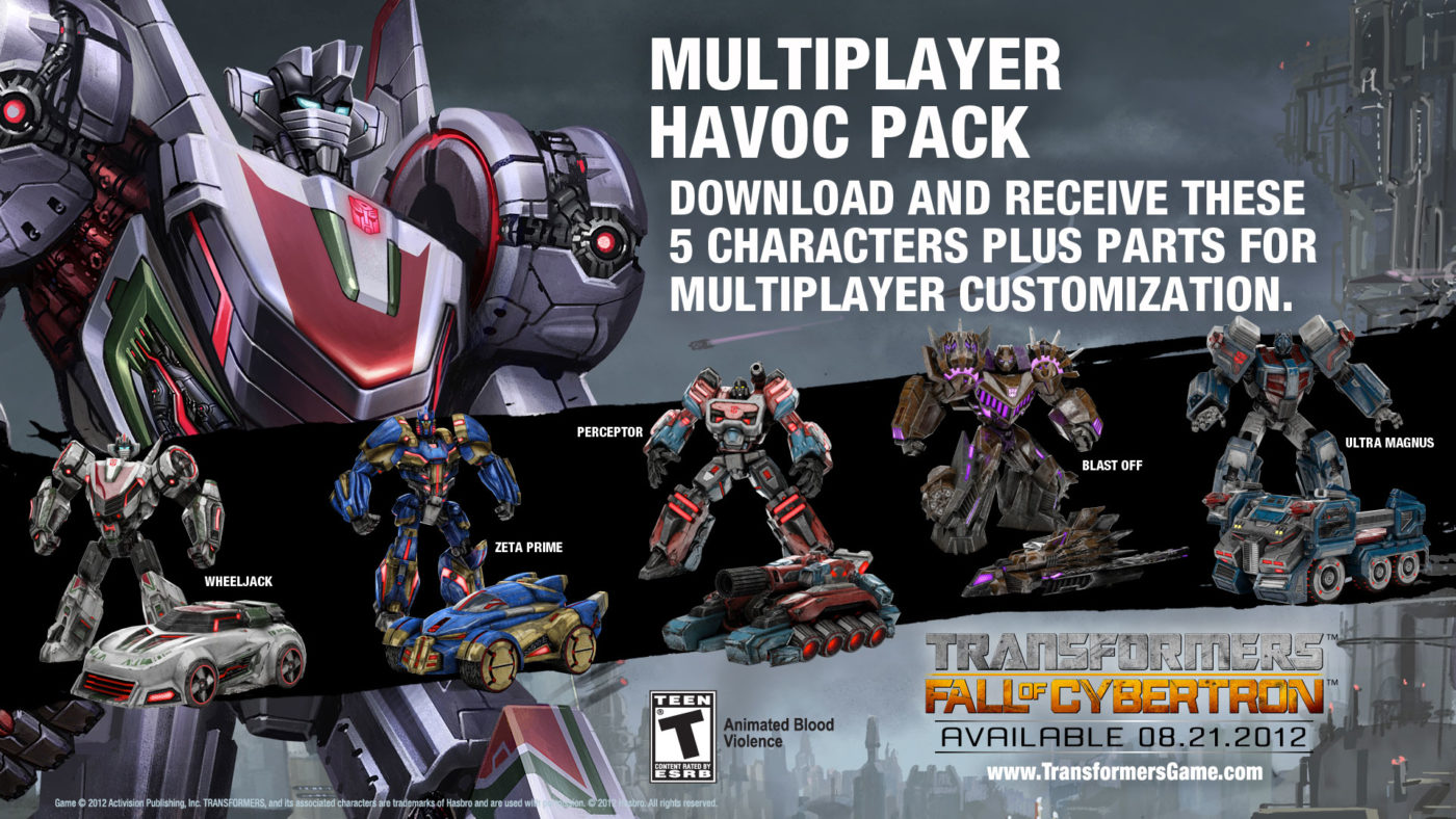 transformers fall of cybertron havoc pack dlc available now mp1st