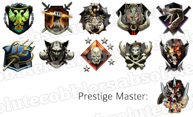 Updated Call Of Duty Black Ops 2 Prestige And League Emblems