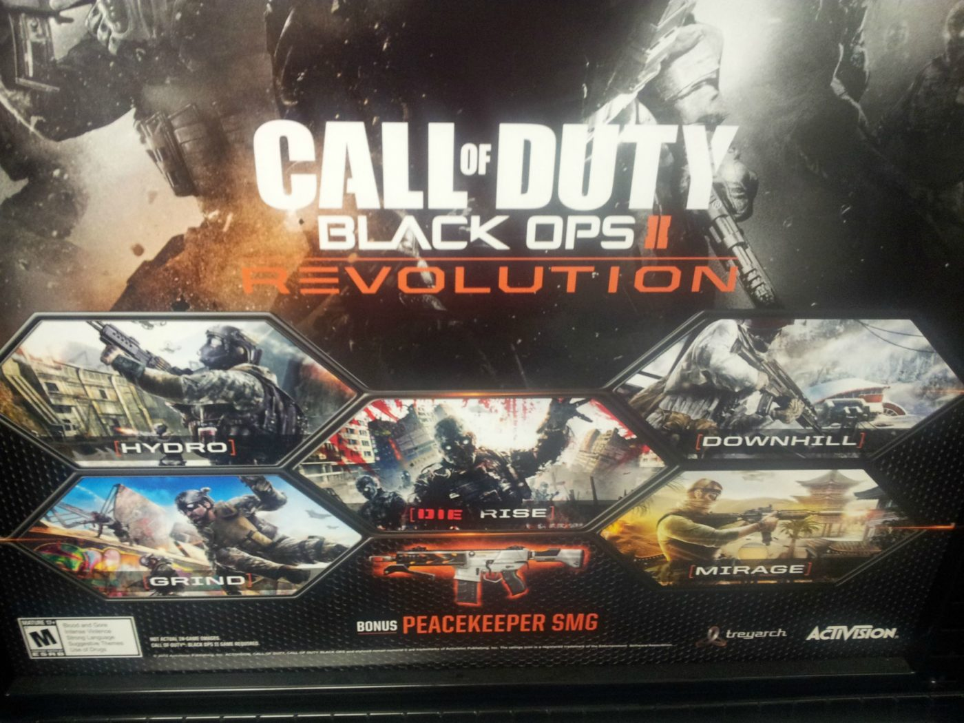 black ops 2 promotion poster reveals revolution map pack and weapon dlc mp1st. Black Bedroom Furniture Sets. Home Design Ideas