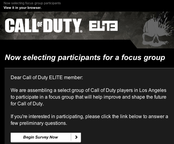 """, Activision Is Selecting Participants for a """"Focus Group"""" to """"Shape the Future of Call of Duty"""", MP1st, MP1st"""