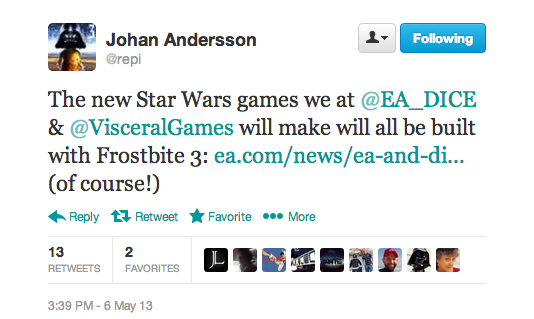 , DICE and Visceral to Produce Star Wars Games in Disney and EA Agreement, MP1st, MP1st