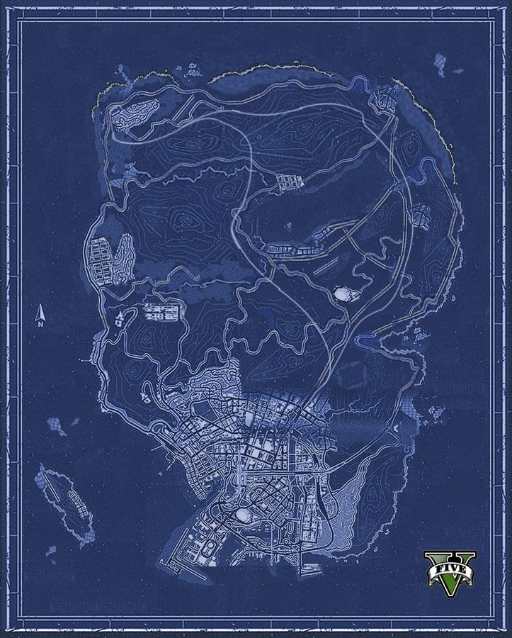 Grand Theft Auto V Fans Piece Together Los Santos Map Updated MP1st
