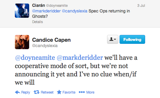 , Call of Duty: Ghosts 'Will Have a Cooperative Mode of Sort,' No Official Announcement Yet, MP1st, MP1st