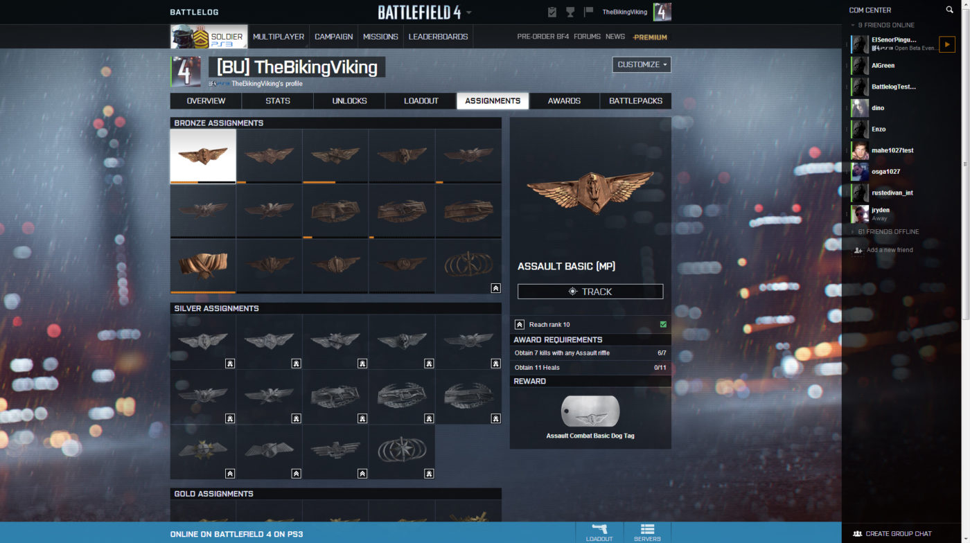 list of topics in bf4