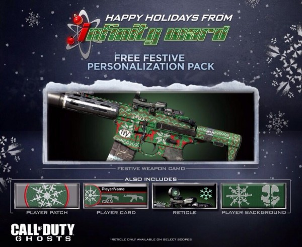 """, Call of Duty: Ghosts Gets Free """"Festive Personalization Pack"""" For The Holidays, MP1st, MP1st"""