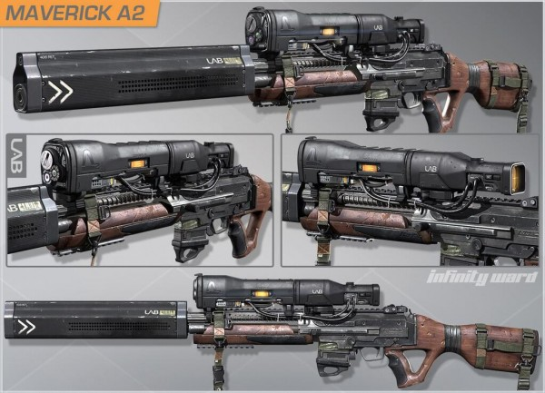 , Call of Duty: Ghosts – Infinity Ward Shares Onslaught DLC Weapon Designs, MP1st, MP1st