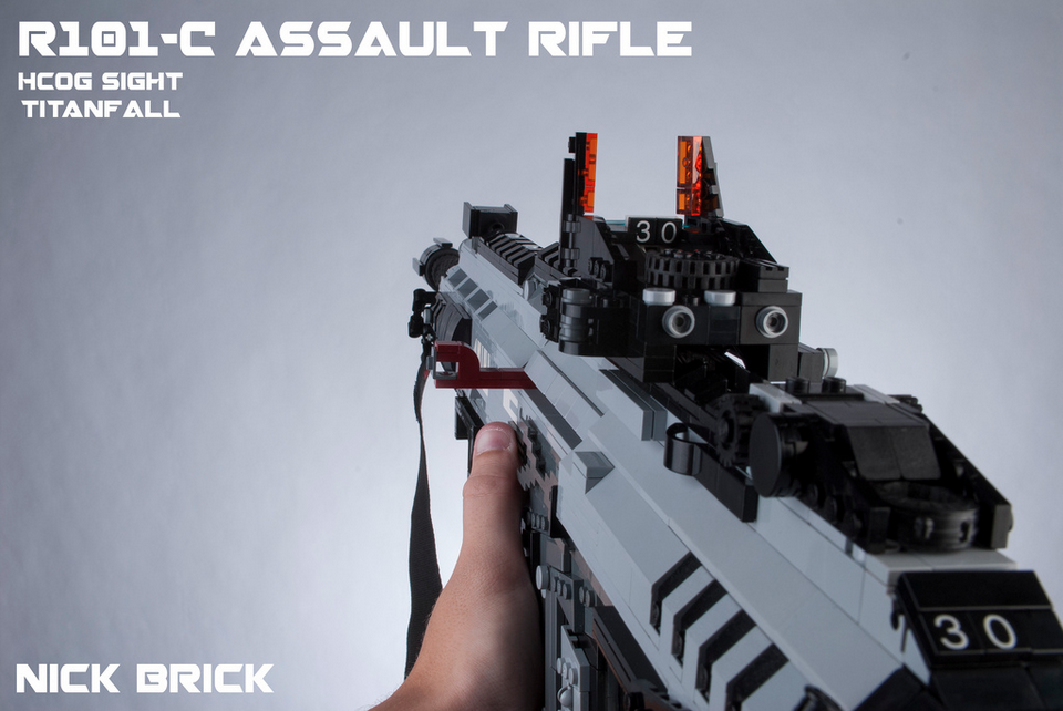 these titanfall weapons remade in lego look like the real