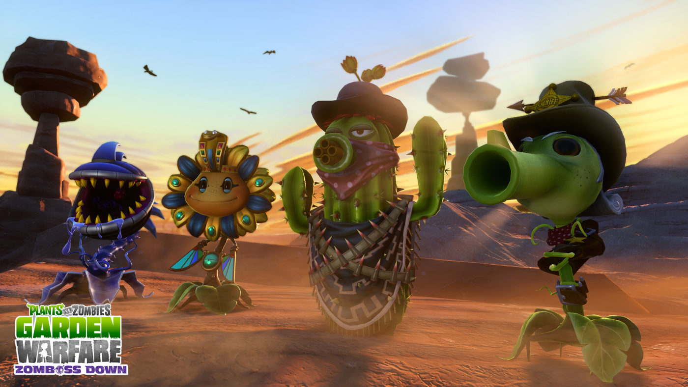 Pvz garden warfare western themed zomboss down dlc now - Plants vs zombies garden warfare xbox one ...