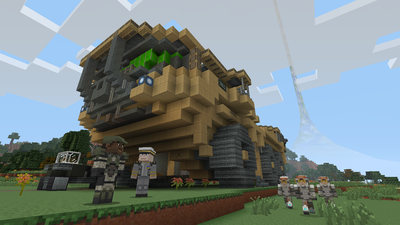 master chief lands on minecraft xbox 360 edition in halo. Black Bedroom Furniture Sets. Home Design Ideas
