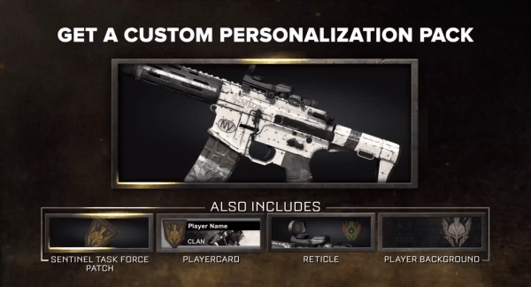 Personalization Pack COD AW