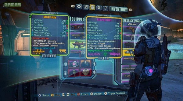 , Borderlands: The Pre-Sequel Allows You To Inspect Your Co-Op Buddies Gear And More, MP1st, MP1st