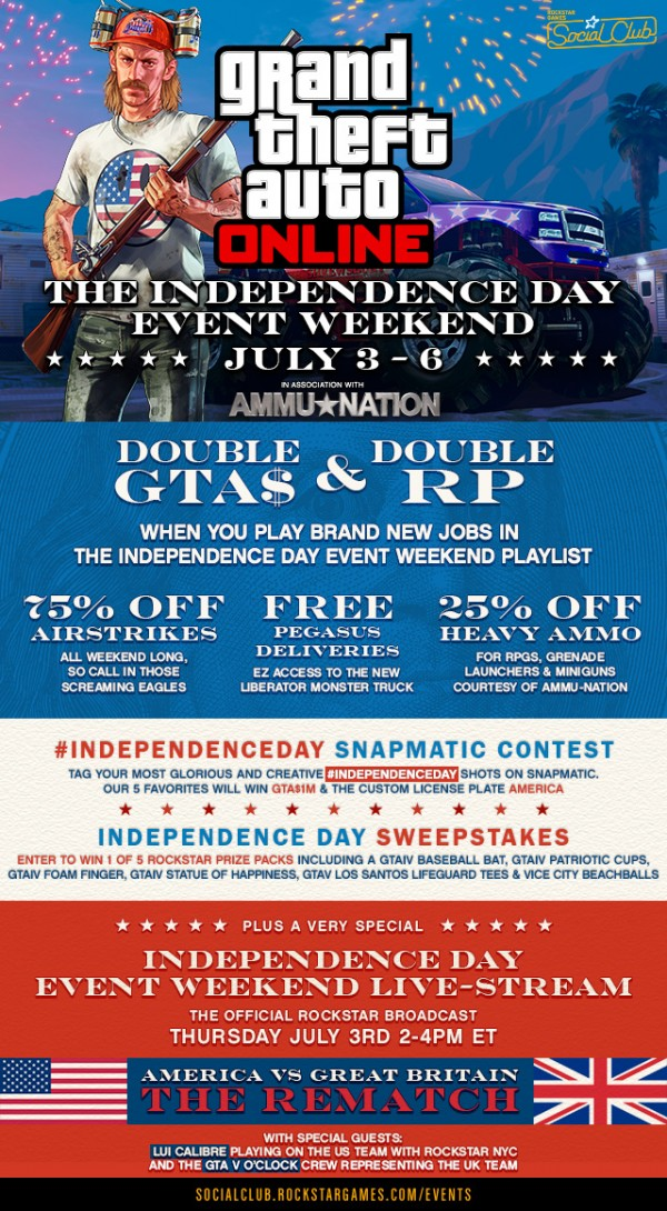 , Celebrate America in GTA Online's Independence Day Weekend Event, MP1st, MP1st