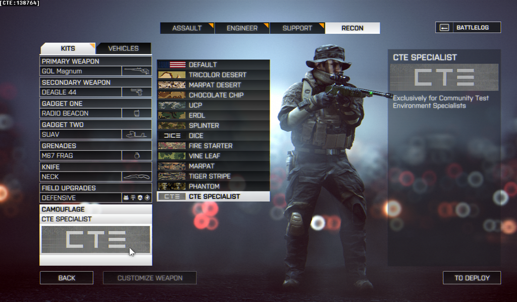 Behold, the exclusive battlefield 4 cte camo and core gameplay.