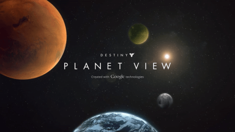 Explore Mars, Venus, and the Moon in Destiny's Planet View, Powered by Google