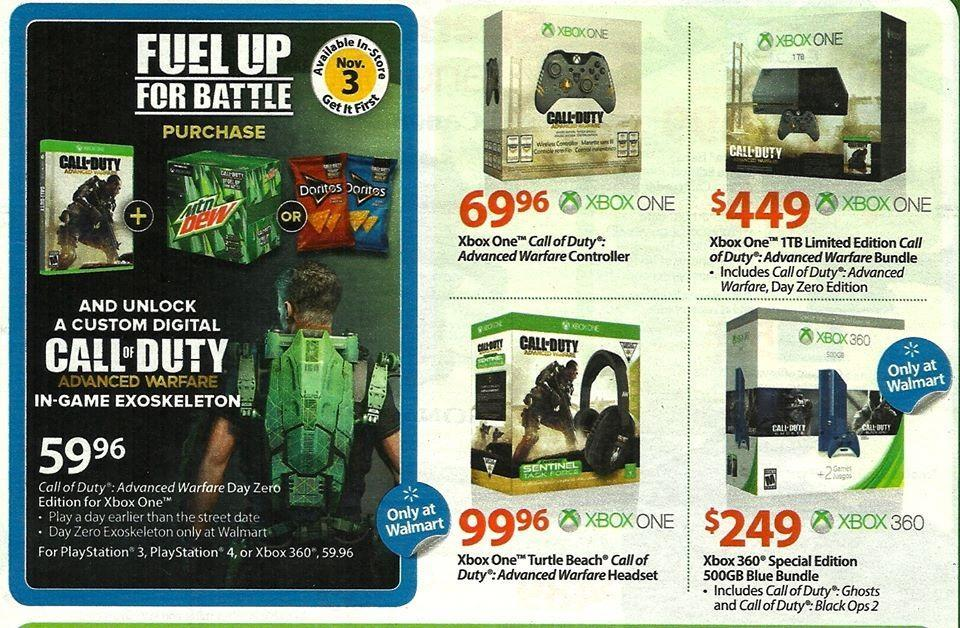 Advanced warfare xbox one bundle 50 price drop expected at launch