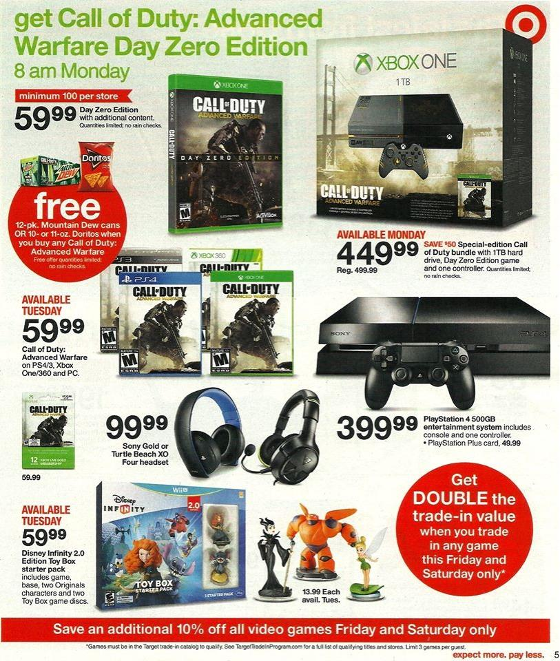 Advanced Warfare Xbox One Bundle $50 Price Drop Expected
