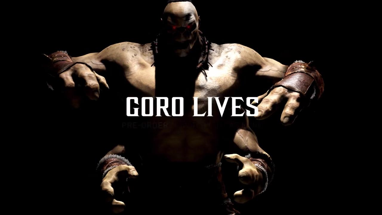 Mortal Kombat X - First Look At Goro This Saturday, GameStop Reveals