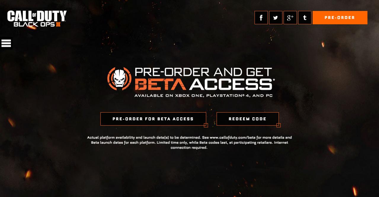 black ops 4 pre order xbox one beta code