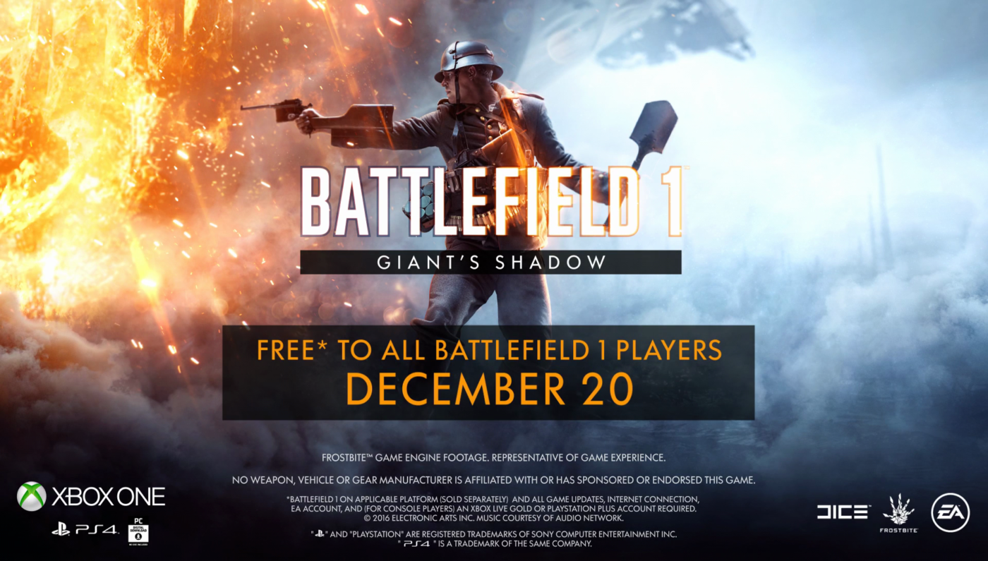 Battlefield 1 Giants Shadow Now Live Nerfs Medic Syringe And Game Ps4 Model 10 A Shotguns