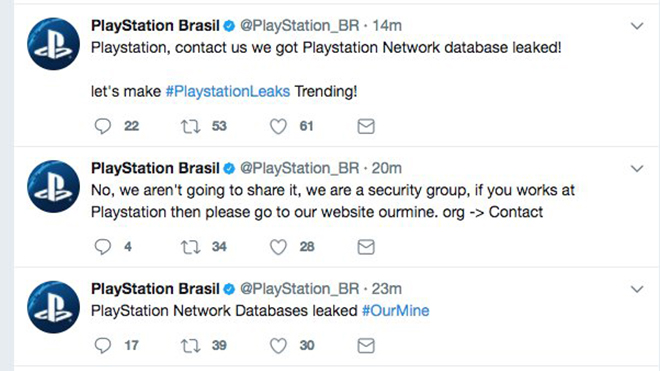 """psn hack, PlayStation Hacked: OurMine Group Claims to Have Access to """"PlayStation Network Database"""", MP1st, MP1st"""