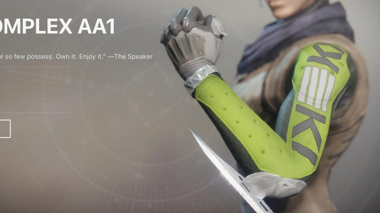 Destiny 2 Removing Item That