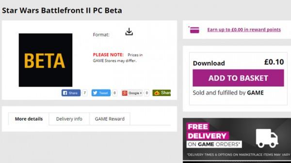 star wars battlefront beta product code