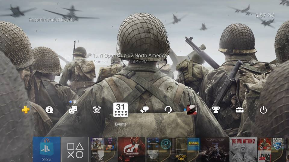 free cod ww2 ps4 theme
