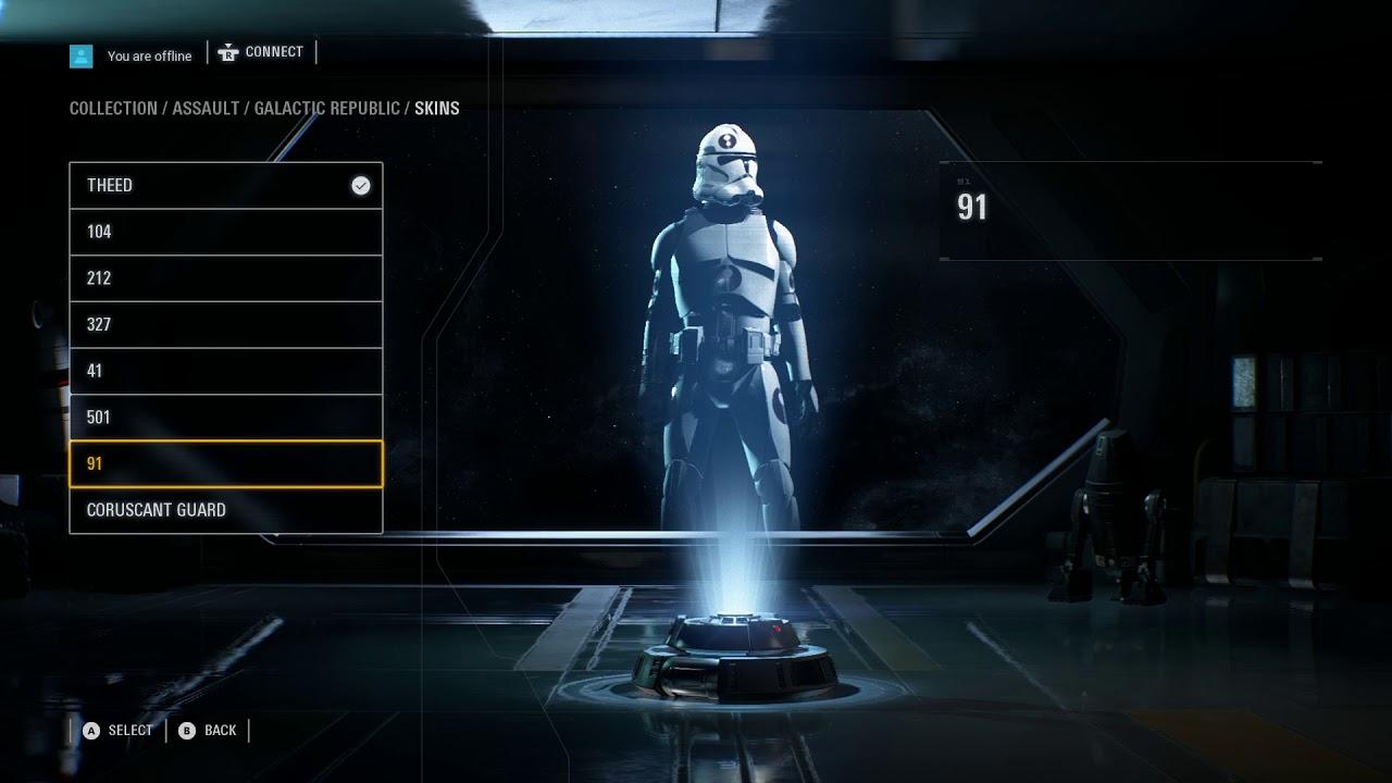 Star Wars Battlefront 2 Character Customization Hidden Options Menu Uncovered