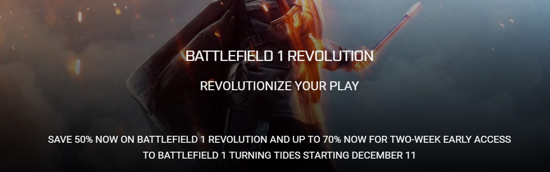 Report: Battlefield 1 Turning Tides Release Date Seemingly Outed