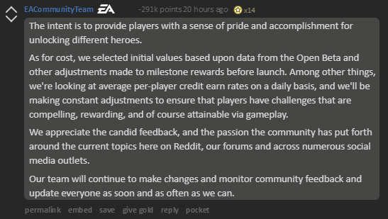 EA Achieves Most Downvoted Comment In Reddit History