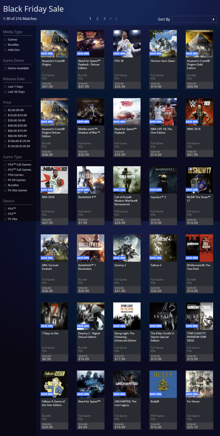 PSN Black Friday Sale List Is Up Now for North America!