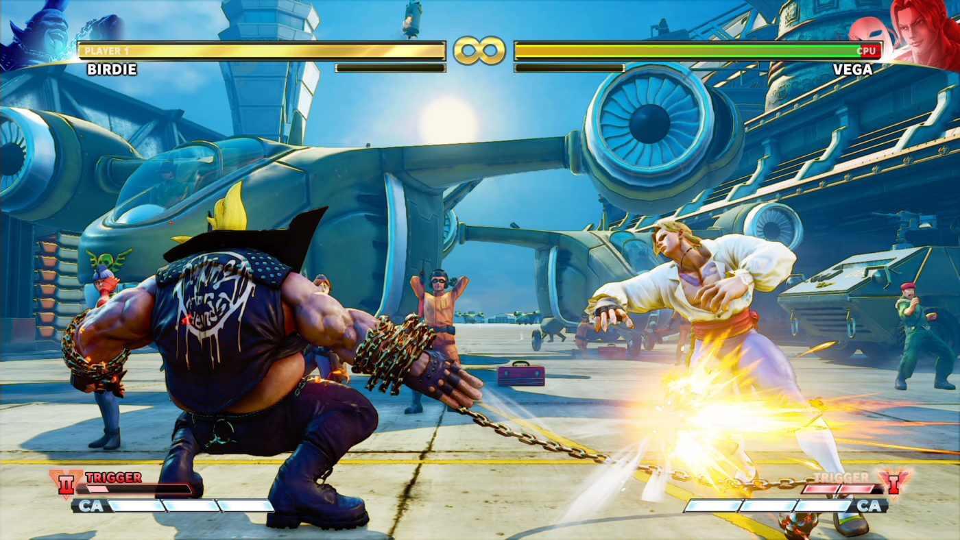 Street Fighter V Arcade Edition comes with a second V-Trigger set