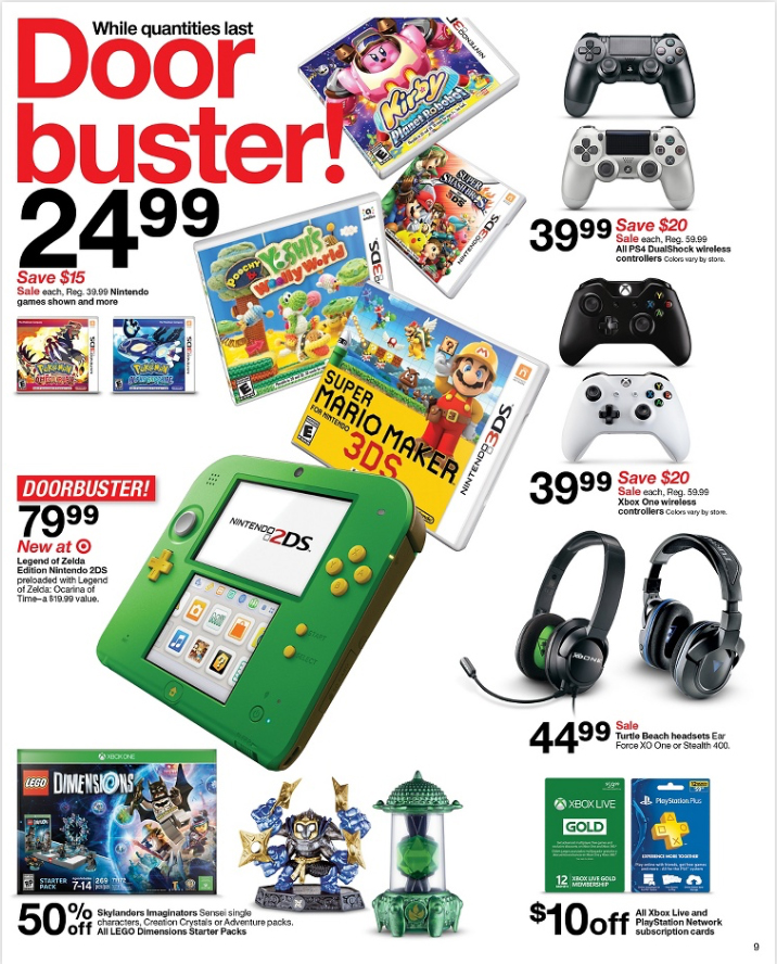 target black friday 2017 ad for games leaked. Black Bedroom Furniture Sets. Home Design Ideas