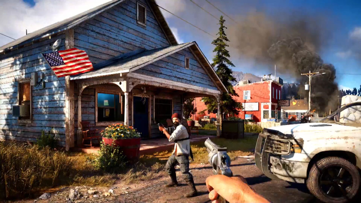 Far Cry 5's latest trailer serves up explosions and animal friends