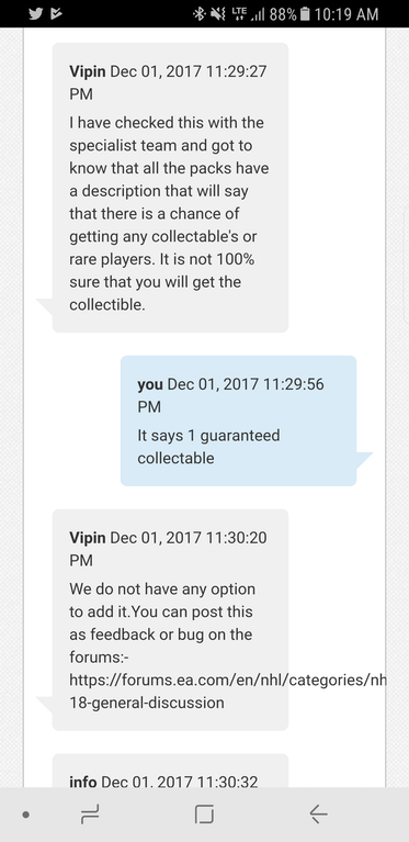 """NHL 18 HUT Holiday Humongous Pack Causes Uproar, """"Guaranteed"""" Collectible Isn't Actually Guaranteed"""