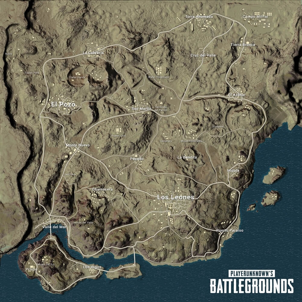 PUBG Desert Map Final Name Revealed, Key Locations Given Official Descriptions