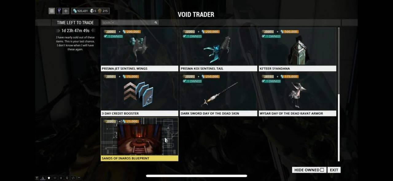 warframe baro ki teer items ps4, Warframe Baro Ka'Teer PS4 Items Revealed, MP1st, MP1st