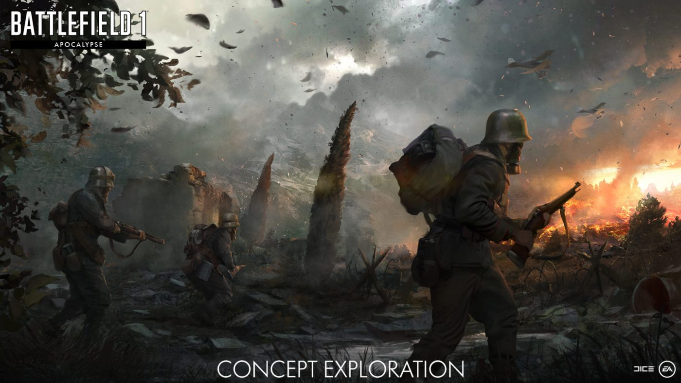 Battlefield 1 apocalypse maps weapons and more revealed - Battlefield v concept art wallpaper ...