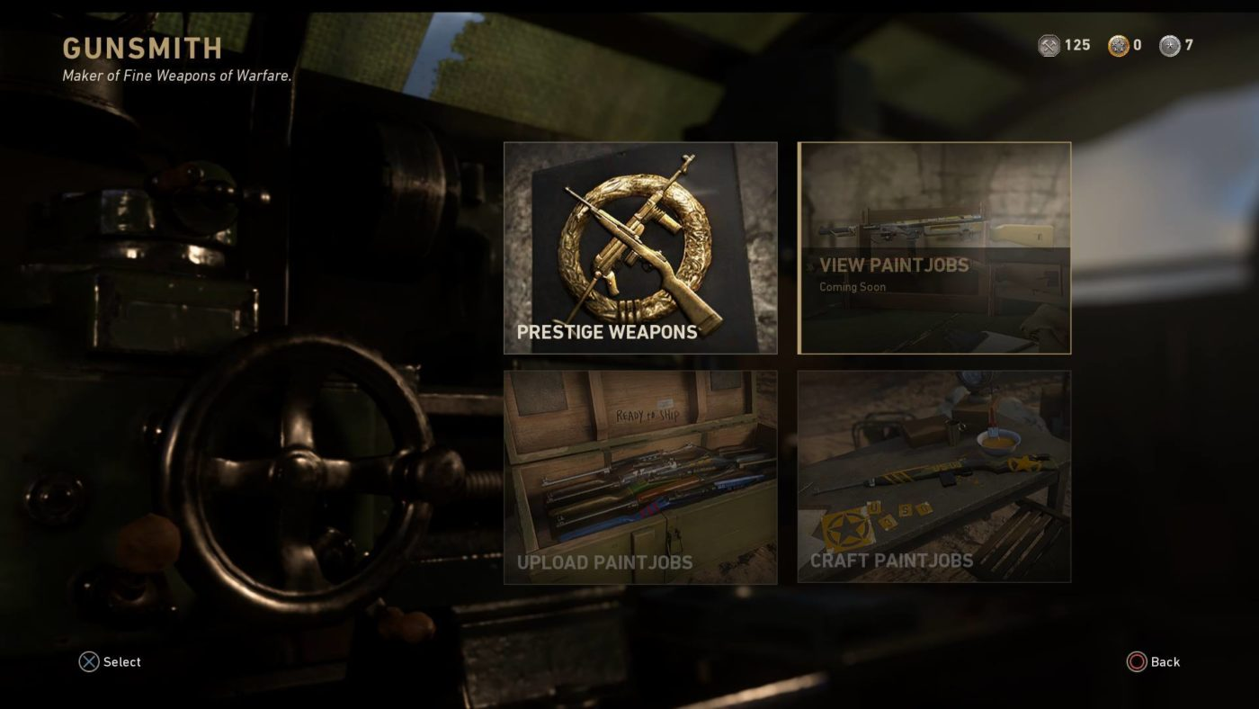 cod ww2 paint shop release date