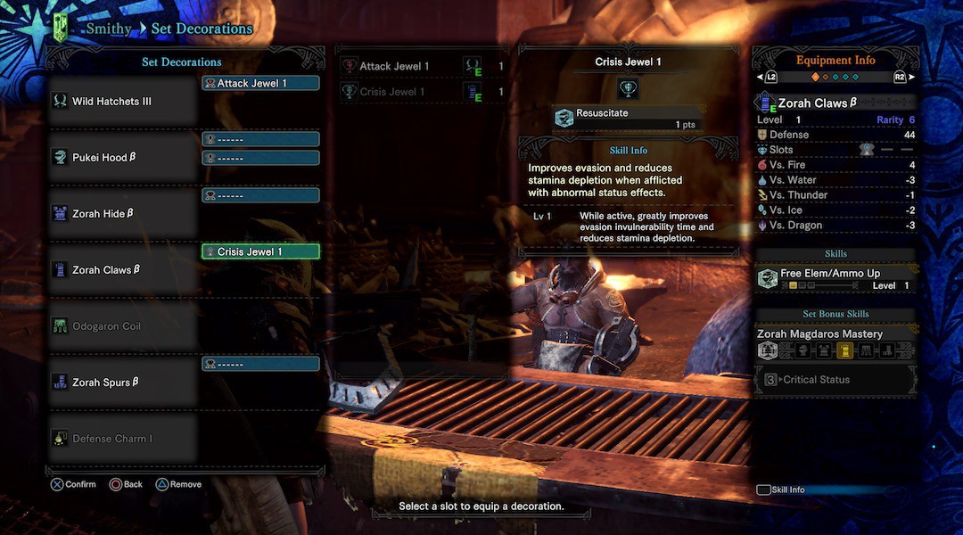 Monster hunter world jewels and decorations where to get for Decorations monster hunter world