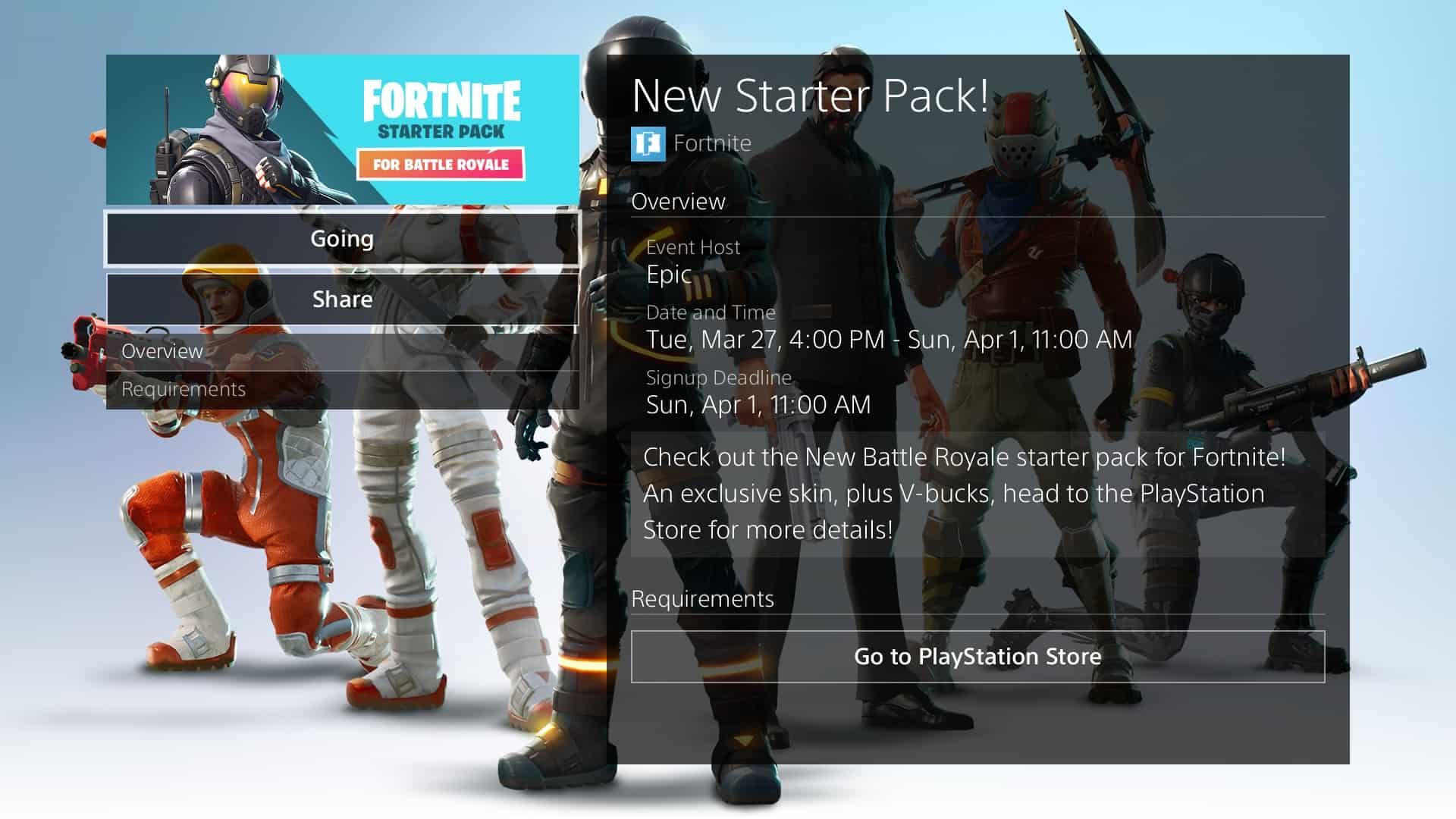 Fortnite Starter Pack Release Date