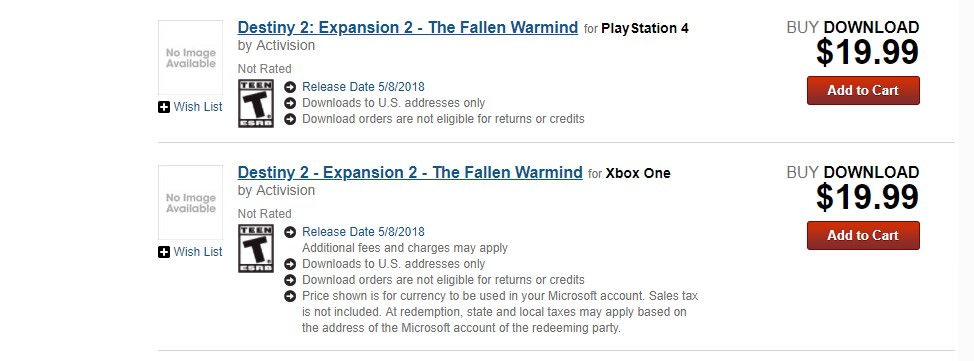 """Rumor: Destiny 2 Second Expansion to Be Called """"Fallen Warmind,"""" Release Date Mentioned"""